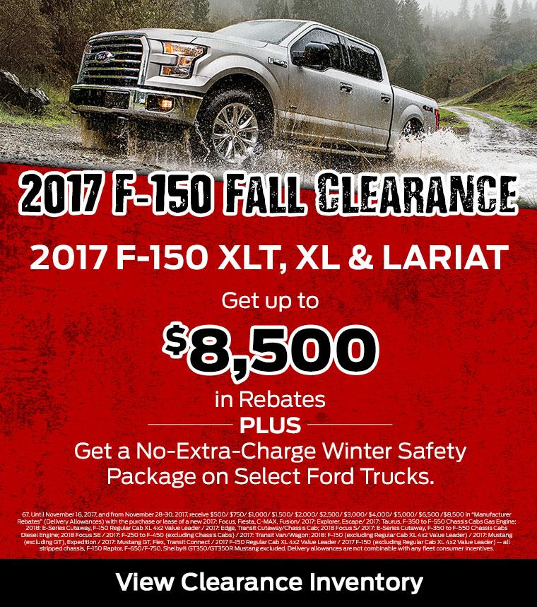 2017 F-150 Clearance Westview Ford