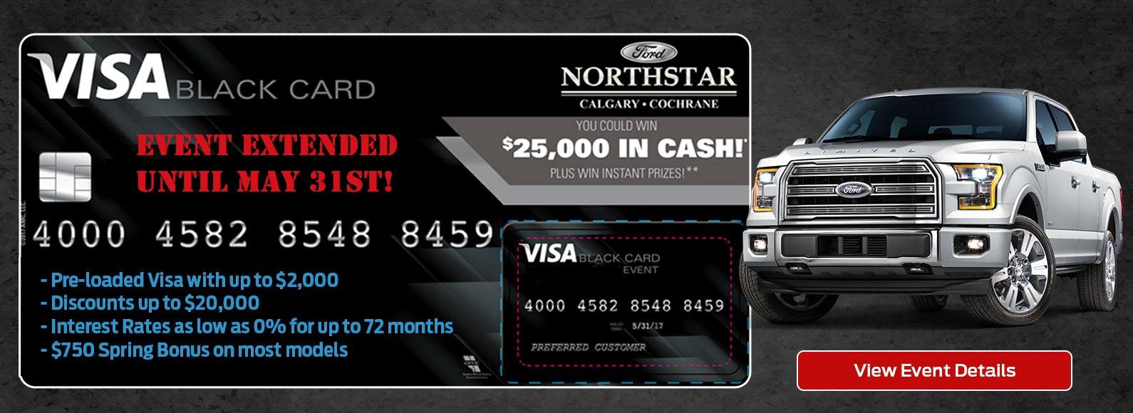 Northstar Ford Cochrane Black Visa card event