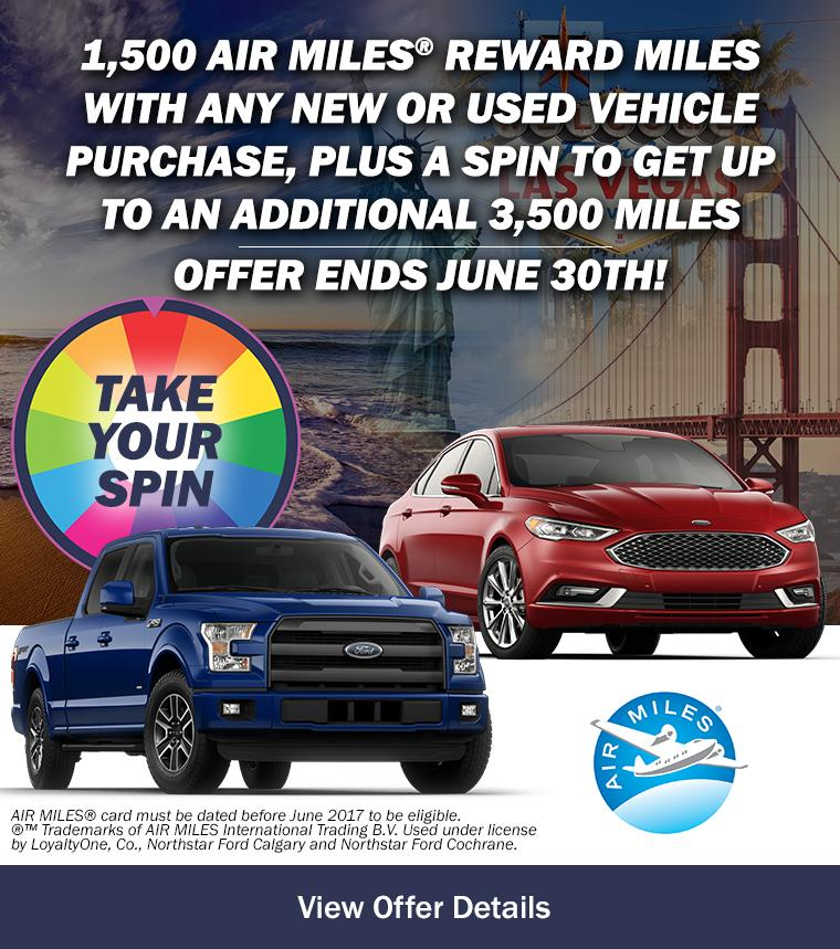AIR MILES® Reward Miles with any new or used vehicle purchase!