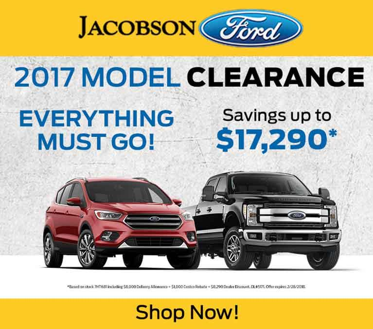 2017 Clearance Jacobson Ford