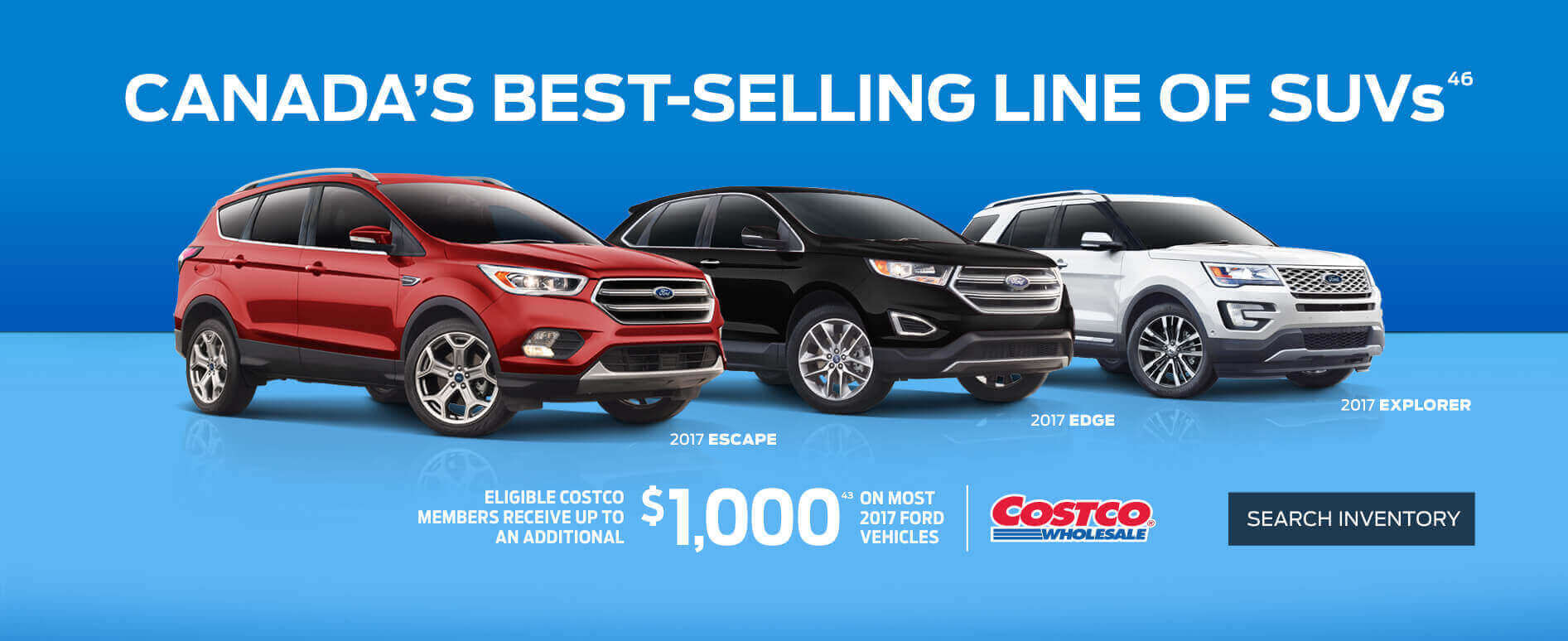 Costco deals on 2017 SUVs at Coastal Ford Burnaby