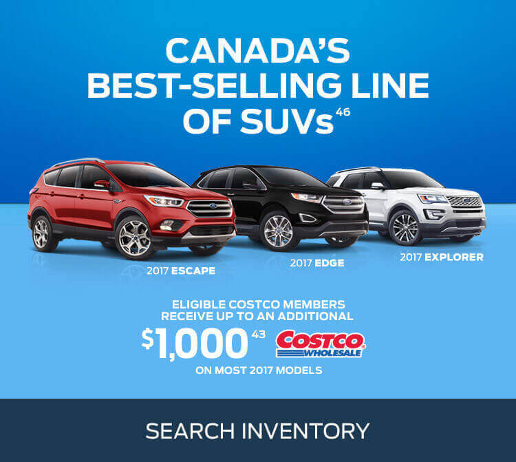 Ford SUV deals at Coastal Ford Burnaby