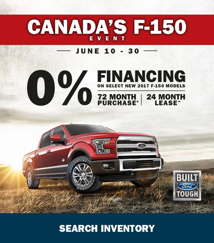 Canada's F-150 Event 0% on F-150
