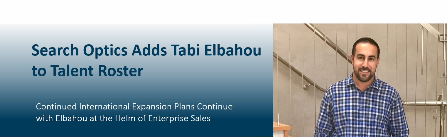 Search Optics Adds Tabi Elbahou  to Talent Roster