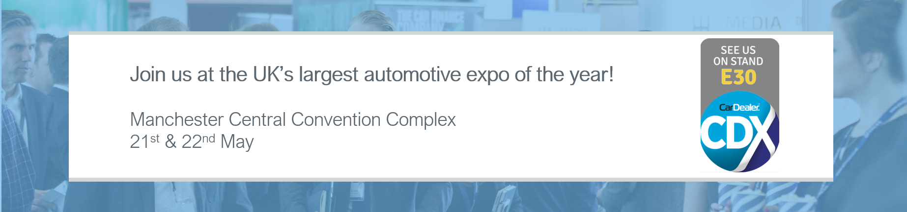 Join us at the UK's largest automotive expo of the year!