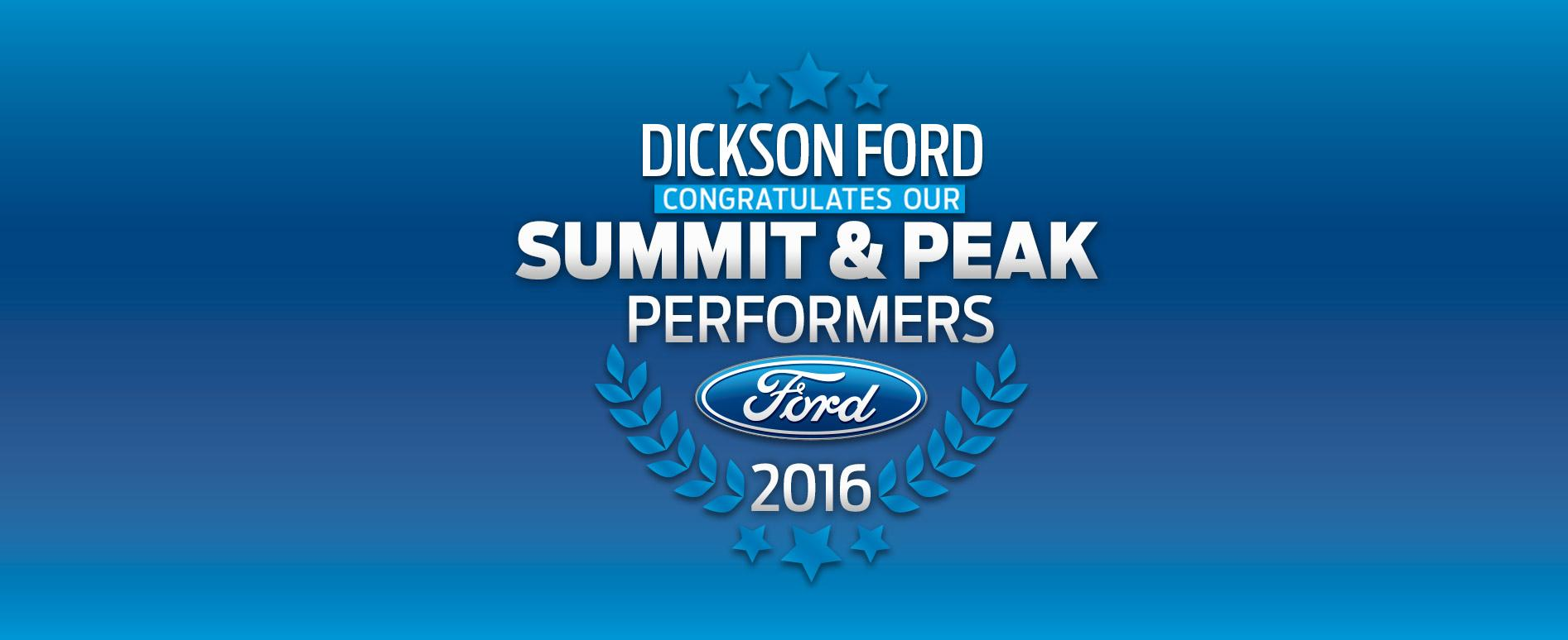Dickson Ford - Summit & Peak Performers