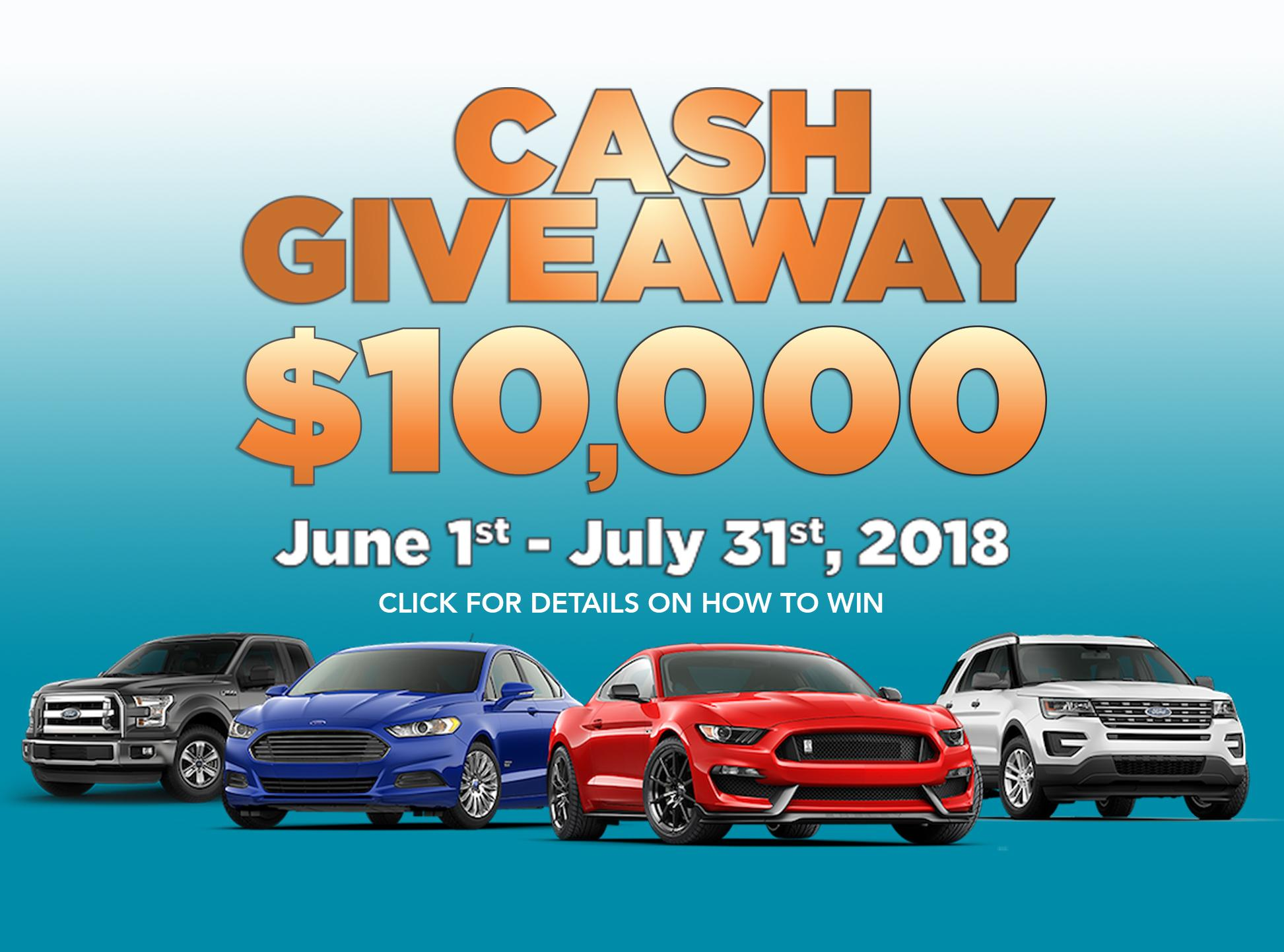 10,000 Cash Giveaway - Discovery Ford