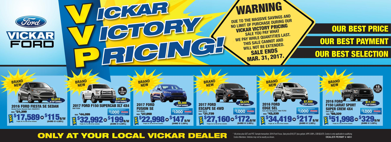 Vickar Vicktory Pricing!