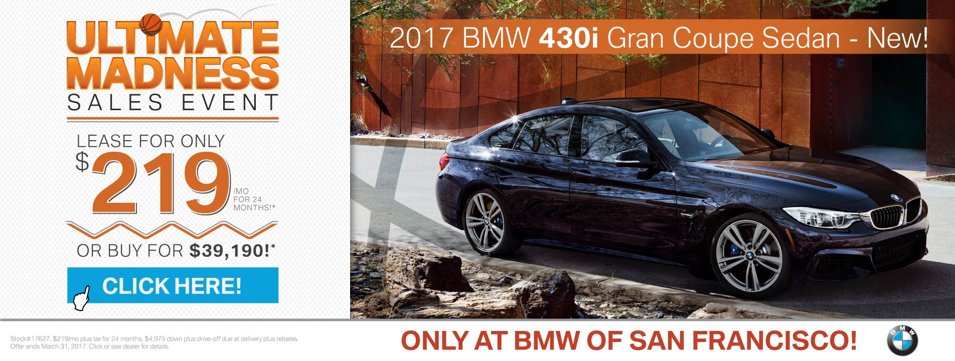 2017 BMW 4 Series Offer