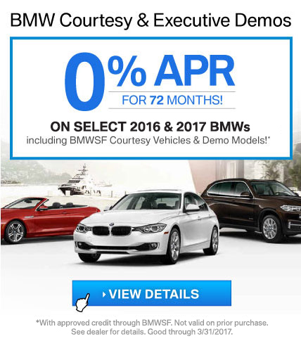 BMW Courtesy & Executive Demo Offer