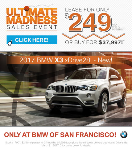 2017 BMW X3 xDrive28i Offer