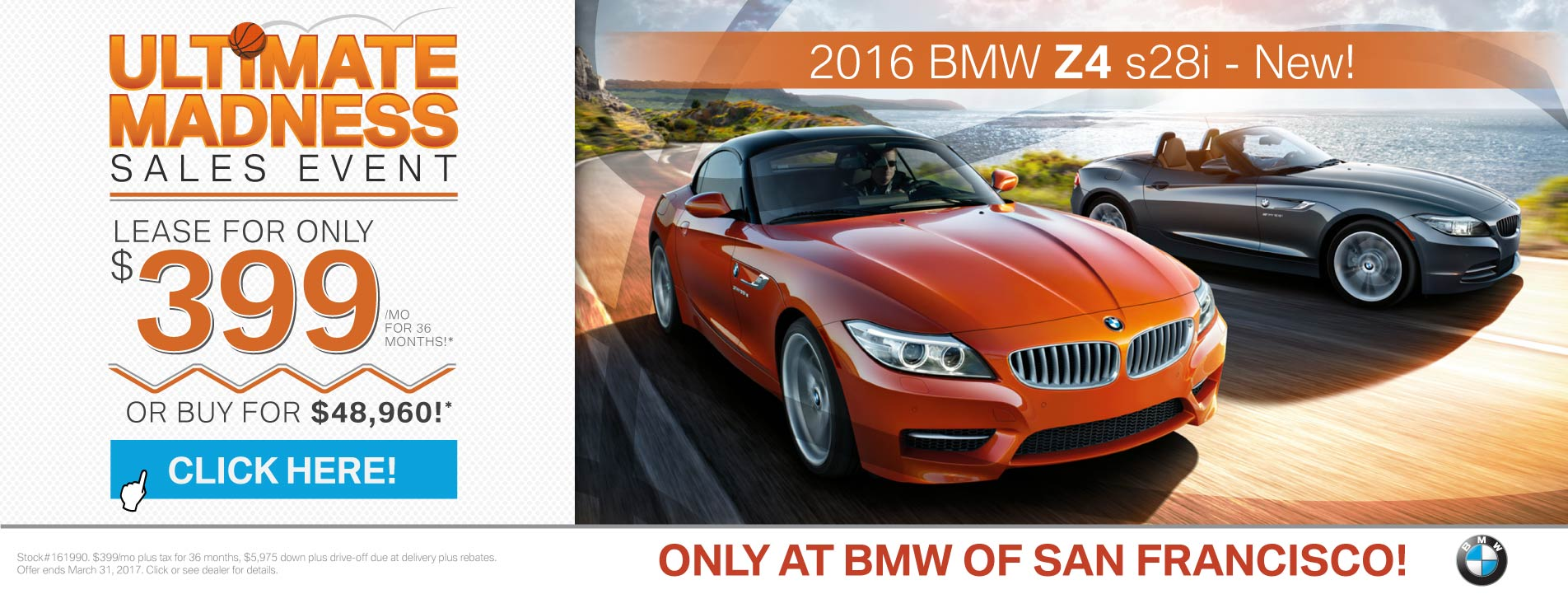 2017 BMW Z4 Offer