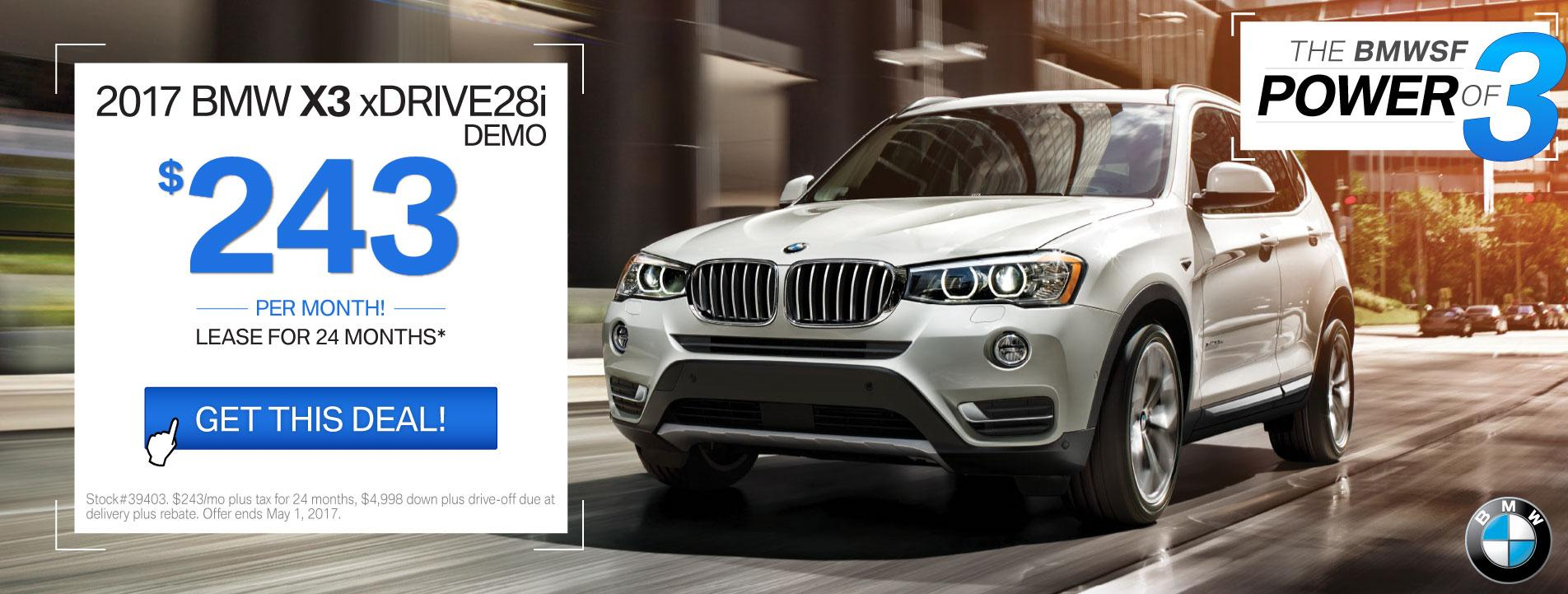 BMWSF X3 Offer