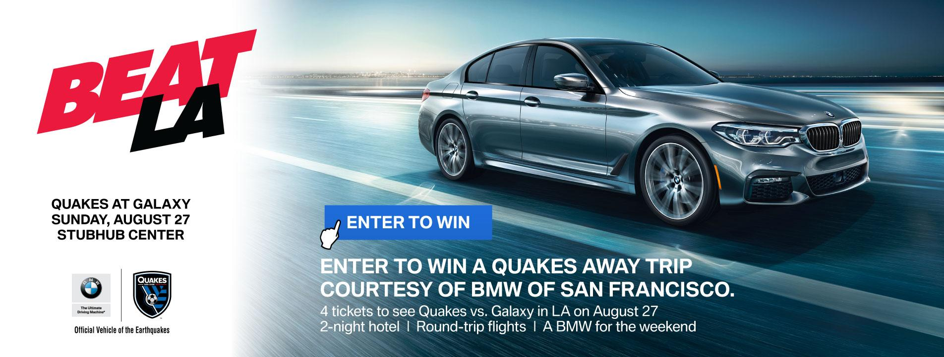 Enter to Win a Quakes Trip