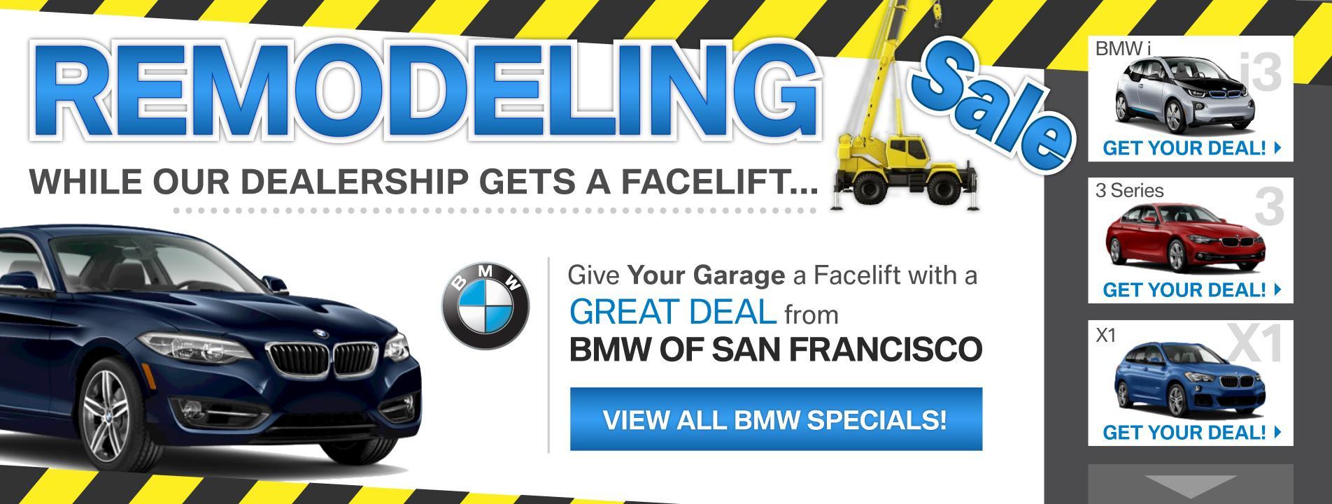 BMWSF Remodeling Sale