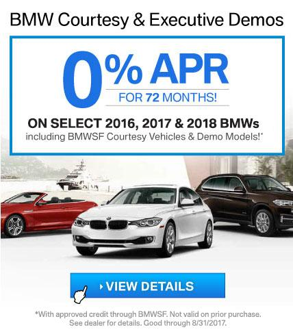 BMW Courtesy and Demo Offer