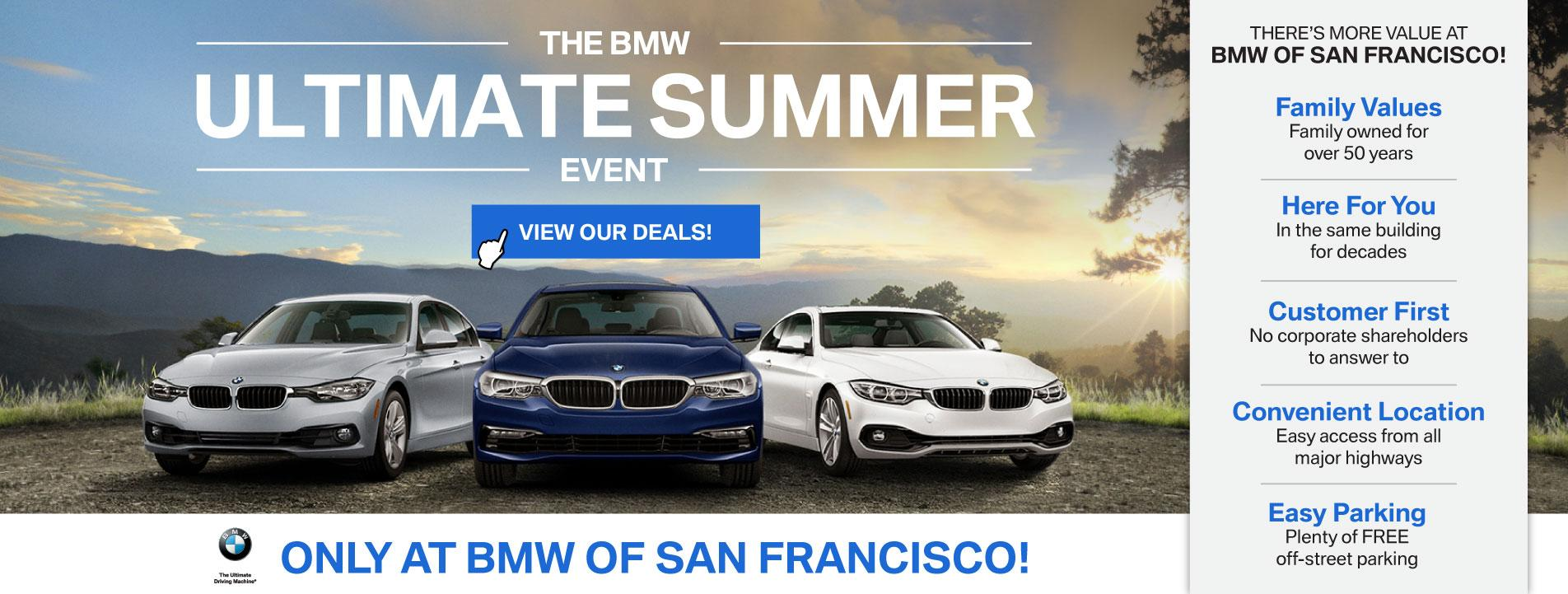 BMW Ultimate Summer Sales Event