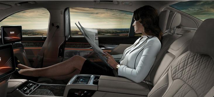 BMW 7 Series Rear Lounge