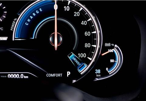 BMW 530e Gauge
