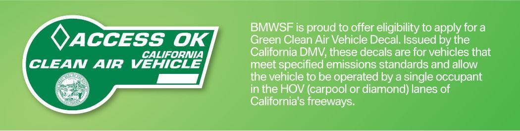 Green Clean Air Vehicle Decal
