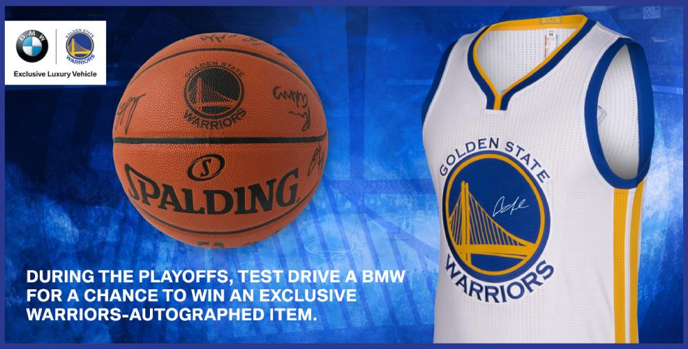 Warriors Autographed Basketball & Jersey
