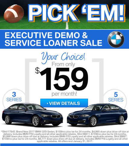 Your Choice!  $159/mo for a BMW 3 Series or 5 Series at BMWSF