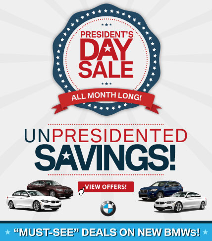 BMW Presidents Day Sale all month long