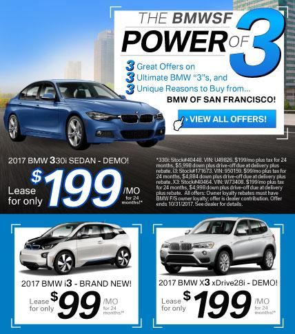 BMWSF Power of 3 Offer