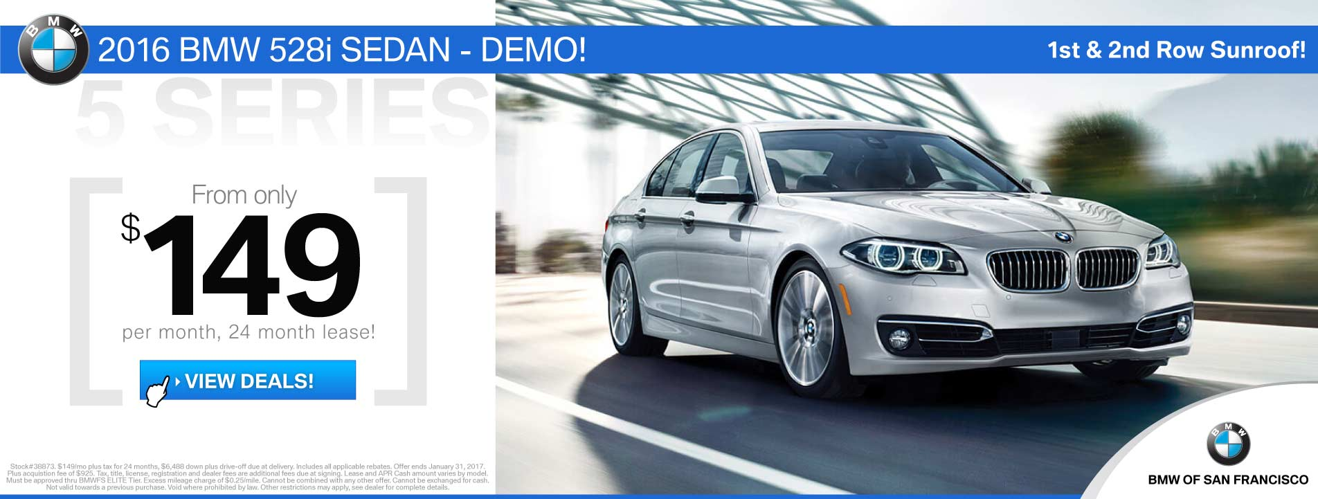BMW 5 Series Lease Offer