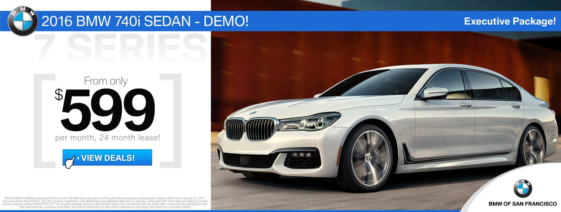 BMW 7 Series Lease Offer