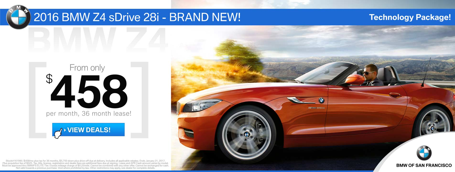 BMW Z4 Lease Offer