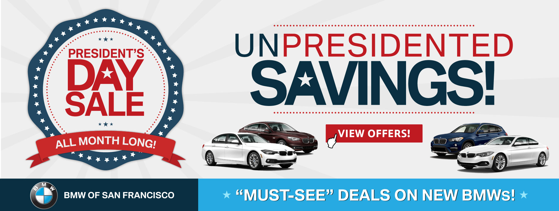 Presidents Day Sale at BMW of San Francisco