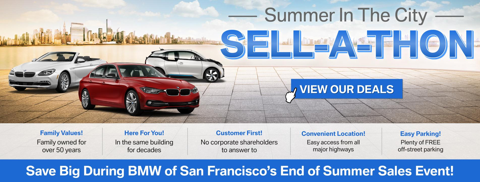 BMW of San Francisco End of Summer Sales Event