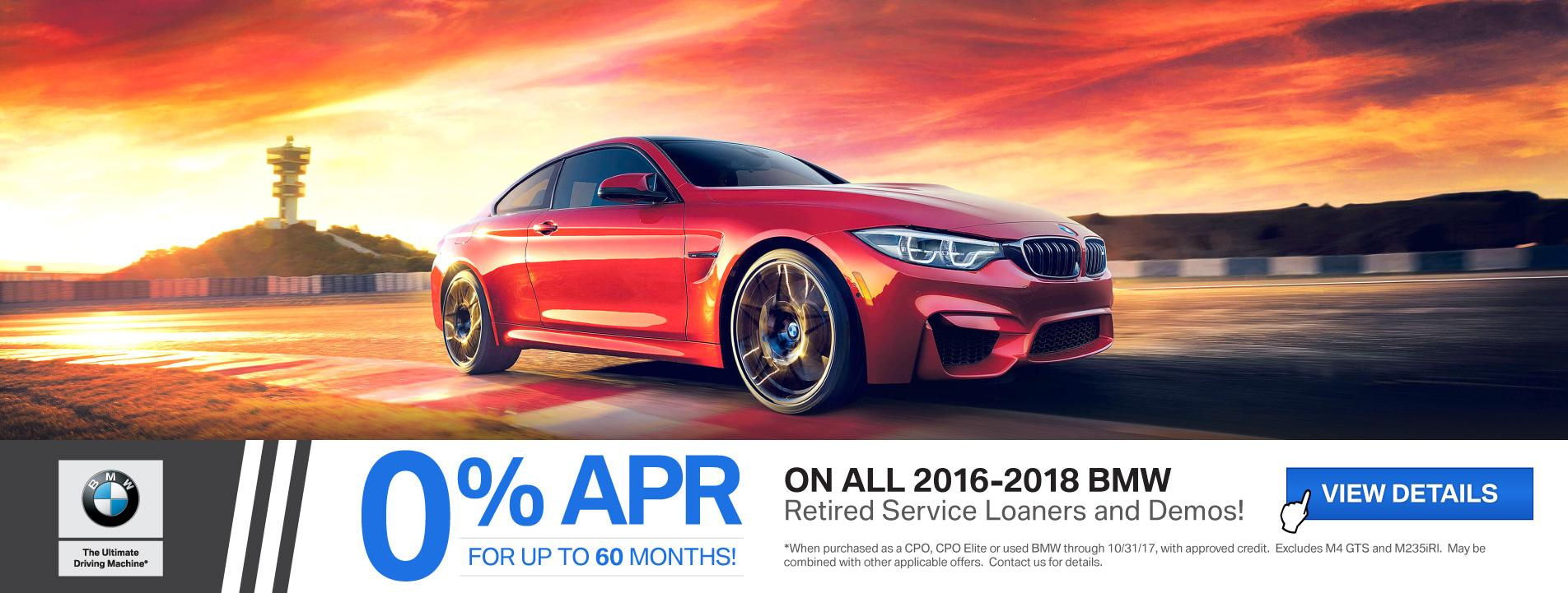 BMW Financing Offer on Retired Service Loaners and Demos