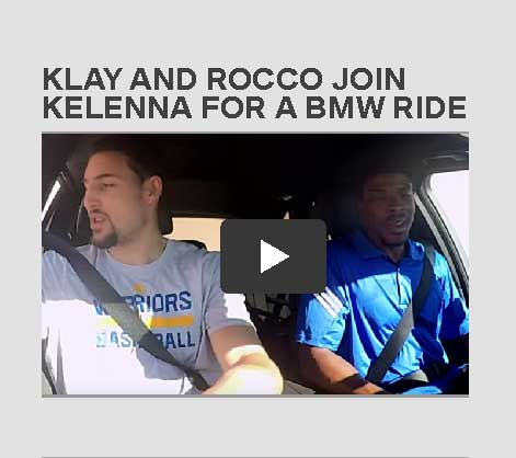 Video: Klay and Rocco Join Kelenna for a BMW Ride