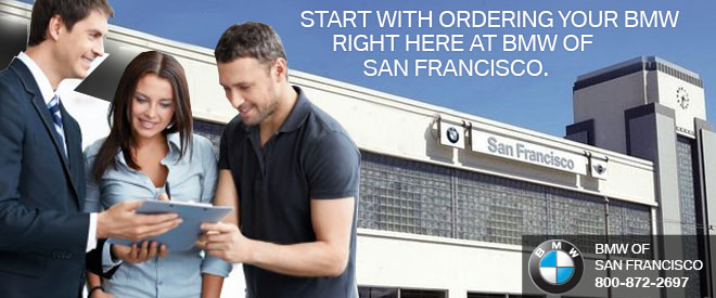 Start with ordering your BMW