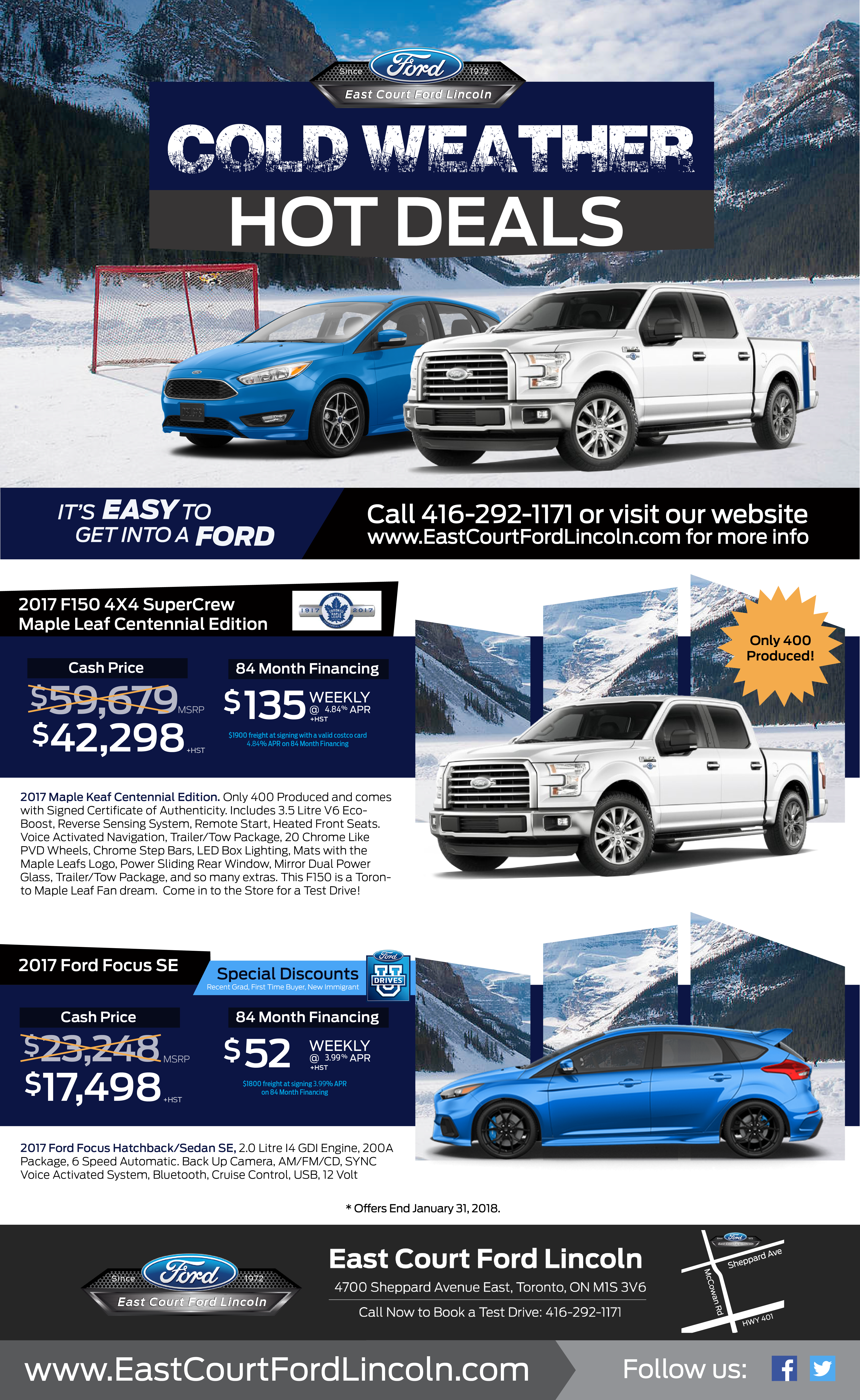 2018 Ford Cold Weather Hot Deals!