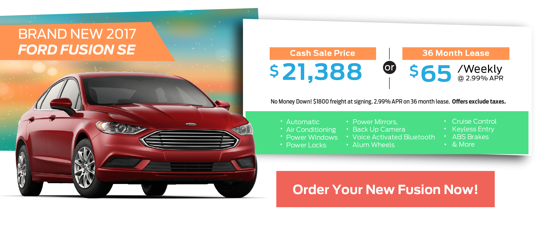 ECFL Sizzling Summer - 2017 Ford Fusion