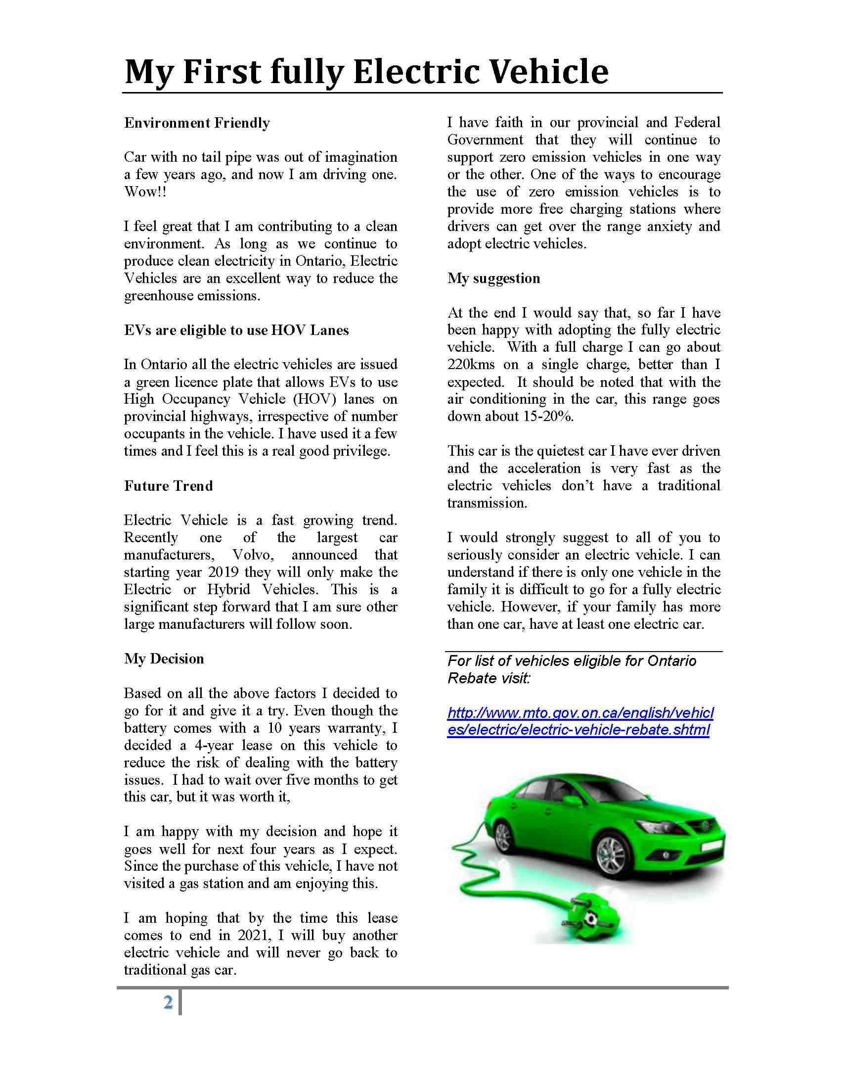 Electric Vehicle P2
