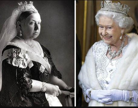 Queen Victoria and Elizabeth II