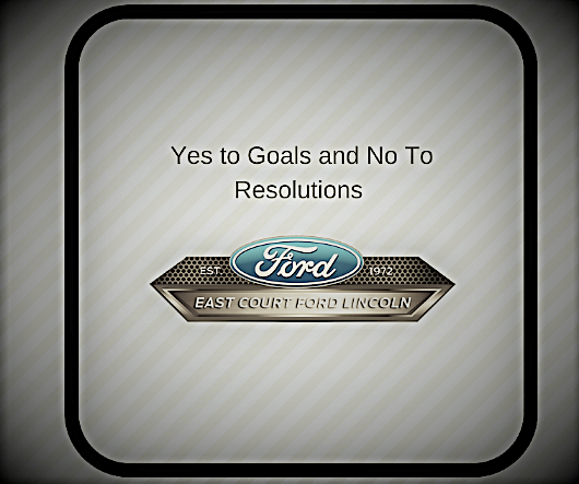 yes to goals and no to resolutions!