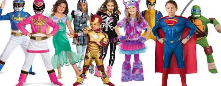 Super Heroes dressing up for Halloween