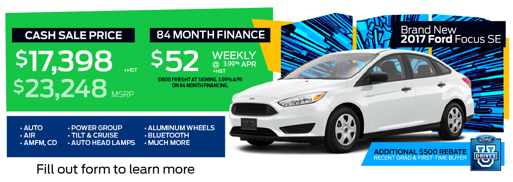 ECFL YEAR END CLEARANCE - 2017 Ford Focus