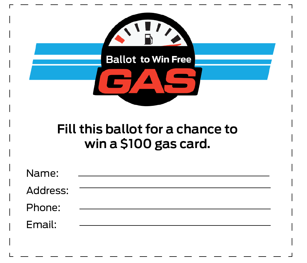Enter for a Chance to Win $100 Free Gas Card - Contest Draw