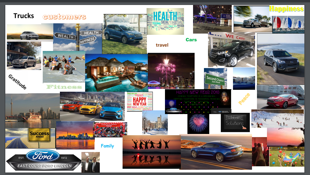 East Court Ford Lincoln Vision Board