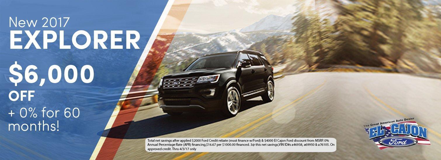 2017 Ford Explorer Incentive
