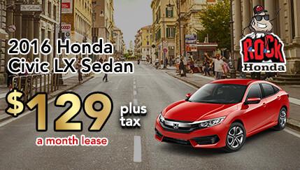 2016 Honda Civic LX 2.0 Sedan Lease