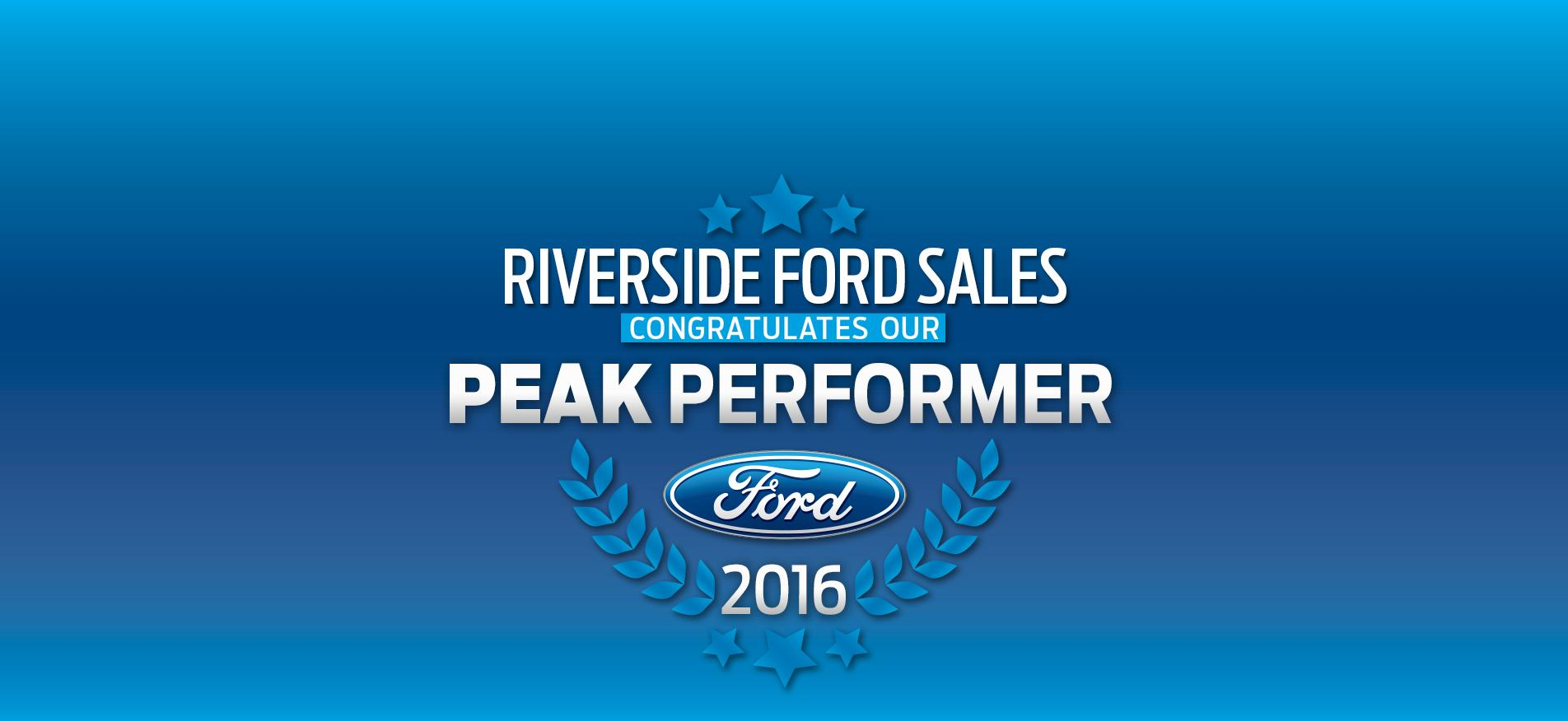 Riverside Ford Sales - Peak Performer