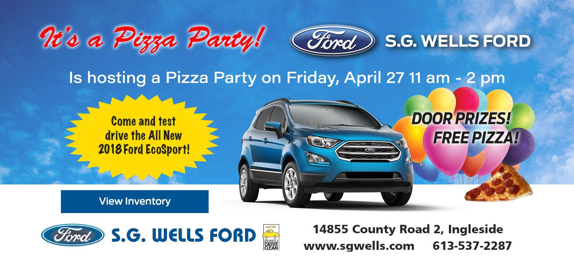 S.G. WELLS FORD PIZZA PARTY