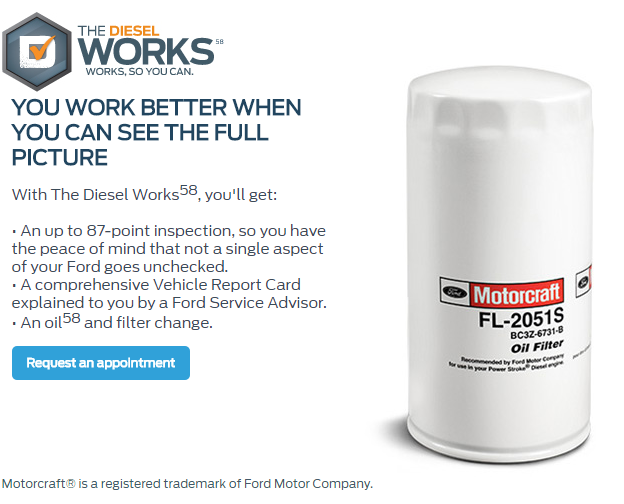 The works Service offer Sterling Ford